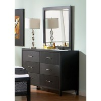 GROVE COLLECTION - Grove Black Dresser Mirror