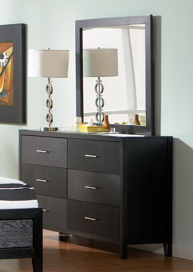 GROVE COLLECTION - Grove Black Six-Drawer Dresser