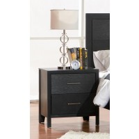GROVE COLLECTION - Grove Black Two-Drawer Nightstand
