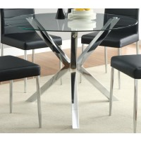 VANCE COLLECTION - Vance Contemporary Chrome Dinette Table