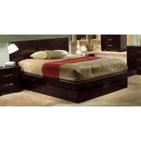 JESSICA COLLECTION - Jessica Dark Cappuccino Queen Platform Bed