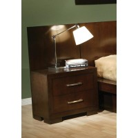 JESSICA COLLECTION - Jessica Cappuccino Two-Drawer Nightstand Back Panel (Pair)