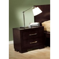 JESSICA COLLECTION - Jessica Cappuccino Two-Drawer Nightstand