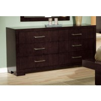 JESSICA COLLECTION - Jessica Cappuccino Six-Drawer Dresser