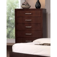 JESSICA COLLECTION - Jessica Cappuccino Five-Drawer Chest