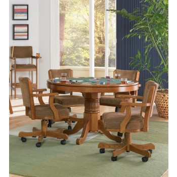 MITCHELL GAME TABLE - Mitchell Traditional Oak Game Table