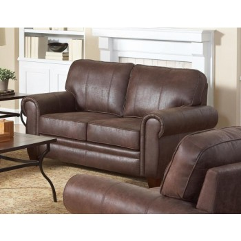 ALLINGHAM COLLECTION - Allingham Traditional Brown Loveseat