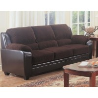 MONIKA COLLECTION - Monika Transitional Chocolate Sofa