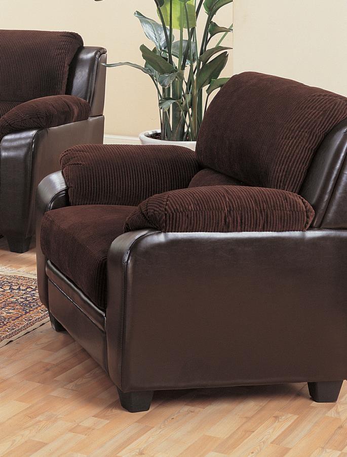 MONIKA COLLECTION - Monika Transitional Chocolate Chair