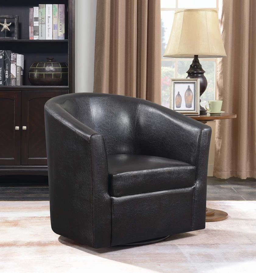 Accents Chairs Contemporary Dark Brown Accent Chair
