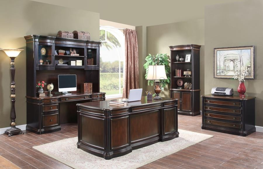 GORMAN COLLECTION - Gorman Traditional Espresso Executive Desk