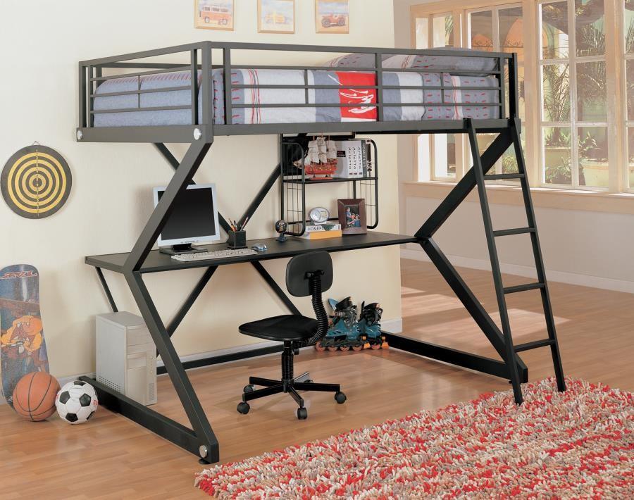 Parkview Workstation Loft Bed Full Workstation Loft Bed 460092 Bunk Beds Midtown Outlet Home Furnishings
