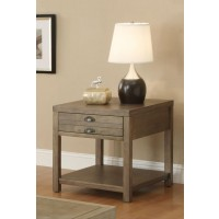 LIVING ROOM : INDUSTRIAL/RUSTIC OCCASIONAL TABLES - Occasional Group Casual Light Oak End Table
