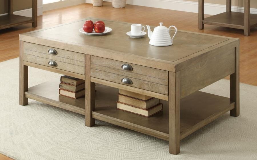 ROSENBERG COLLECTION - Occasional Group Casual Light Oak Coffee Table