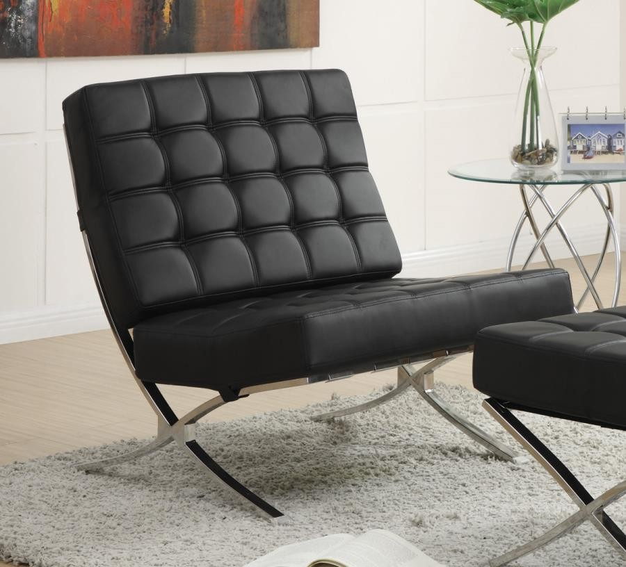 Prime Accents Chairs Black And Chrome Accent Chair Cjindustries Chair Design For Home Cjindustriesco