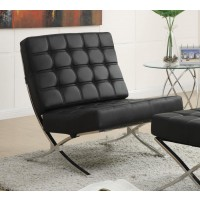 ACCENTS : CHAIRS - Black and Chrome Accent Chair