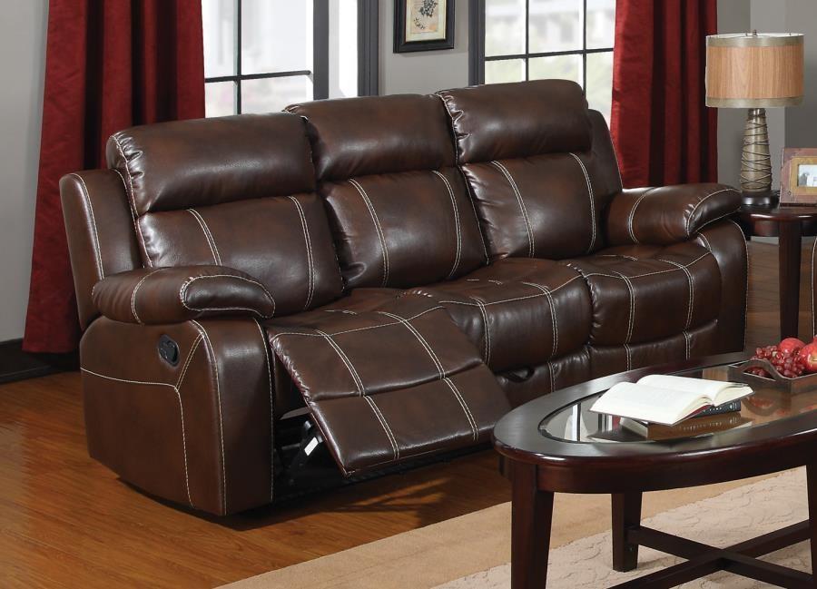 Myleene Myleene Chestnut Leather Reclining Sofa 603021