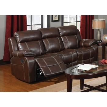 MYLEENE MOTION COLLECTION - Myleene Chestnut Leather Reclining Sofa