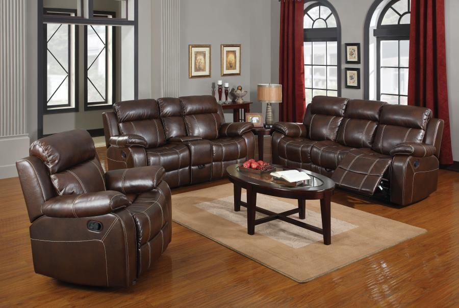 MYLEENE MOTION COLLECTION - Myleene Chestnut Leather Recliner