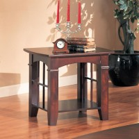 LIVING ROOM: WOOD TOP OCCASIONAL TABLES - Abernathy Cherry End Table