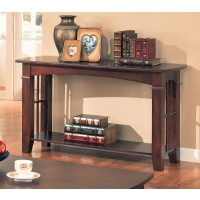 LIVING ROOM: WOOD TOP OCCASIONAL TABLES - Abernathy Cherry Sofa Table