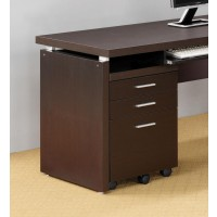 SKYLAR COLLECTION - Skylar Contemporary Cappuccino Three-Drawer File Cabinet