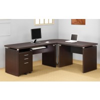 SKYLAR COLLECTION - Skylar Contemporary Cappuccino Computer Desk