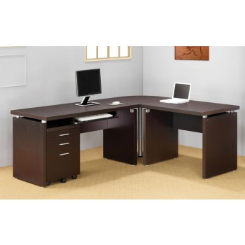 SKYLAR COLLECTION - Skylar Contemporary Cappuccino Desk