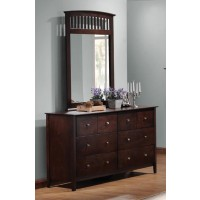 TIA COLLECTION - Tia Cappuccino Six-Drawer Dresser
