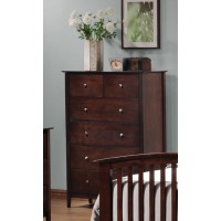 TIA COLLECTION - Tia Cappuccino Five-Drawer Chest