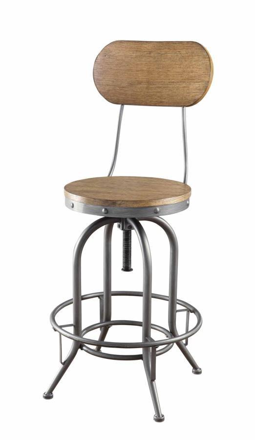 REC ROOM/ BAR TABLES: RUSTIC/INDUSTRIAL - Rustic Graphite Bar Stool (Pack of 2)