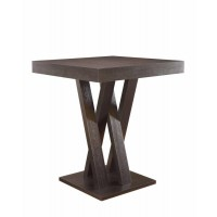 MANNES COLLECTION - Mannes Contemporary Cappuccino Counter-Height  Table