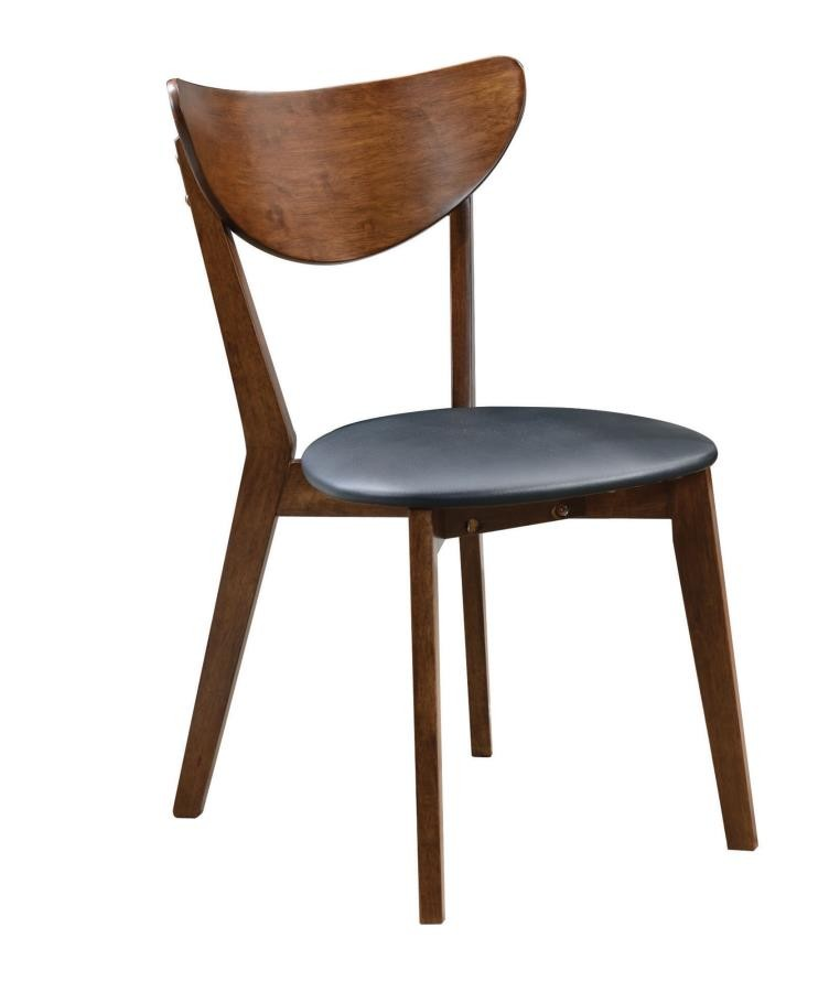 MALONE COLLECTION - Malone Mid-Century Modern Dark Walnut Dining Chair (Pack of 2)