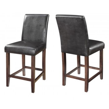 EVERYDAY DINING: STOOLS - Contemporary Dark Brown Parsons Counter-Height Stool (Pack of 2)