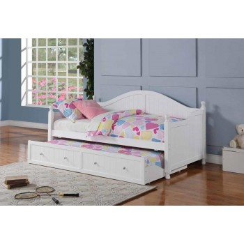 TWIN DAYBED WITH TRUNDLE - Coastal White Daybed