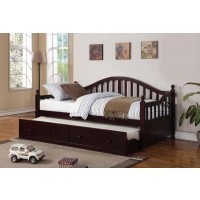 TWIN DAYBED WITH TRUNDLE - Coastal Cappuccino Twin Daybed