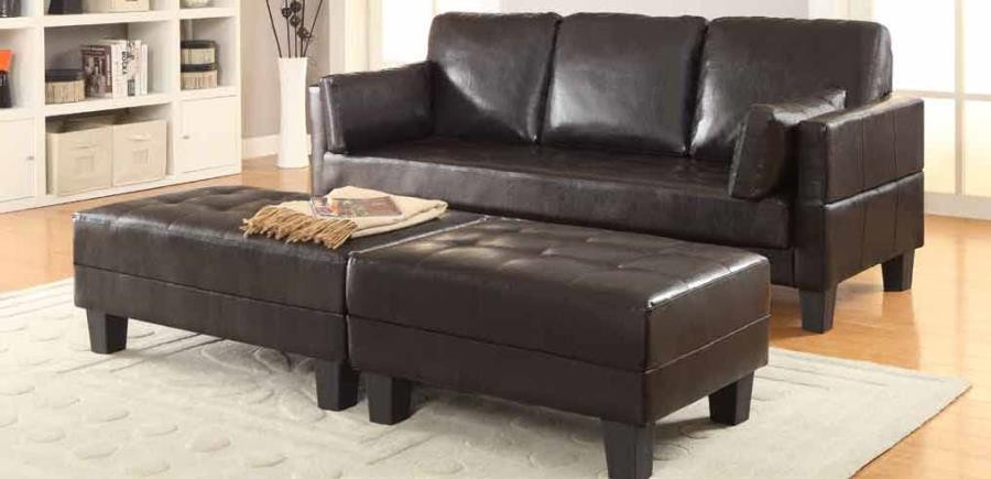 ELLESMERE COLLECTION - Ellesmere Contemporary Brown Sofa Bed