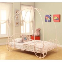 Massi Youth Bed - Massi Pink Twin Canopy Bed