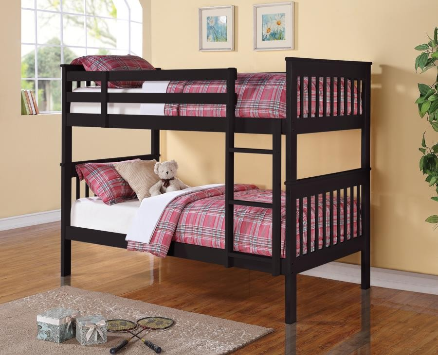 Chapman Collection Chapman Black Twin Over Twin Bunk Bed 460234