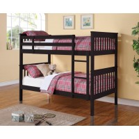 CHAPMAN COLLECTION - Chapman Black Twin-over-Twin Bunk Bed