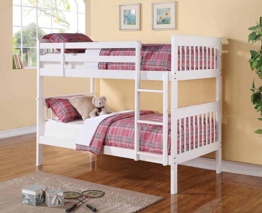 Chapman Collection Chapman Transitional White Twin Over Twin Bunk