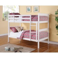 CHAPMAN COLLECTION - Chapman Transitional White Twin-over-Twin Bunk Bed