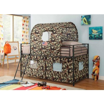 Camouflage tent bed - Camouflage Tent Bunk Bed