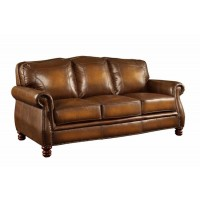 MONTBROOK COLLECTION - Montbrook Traditional Hand Rubbed Brown Sofa