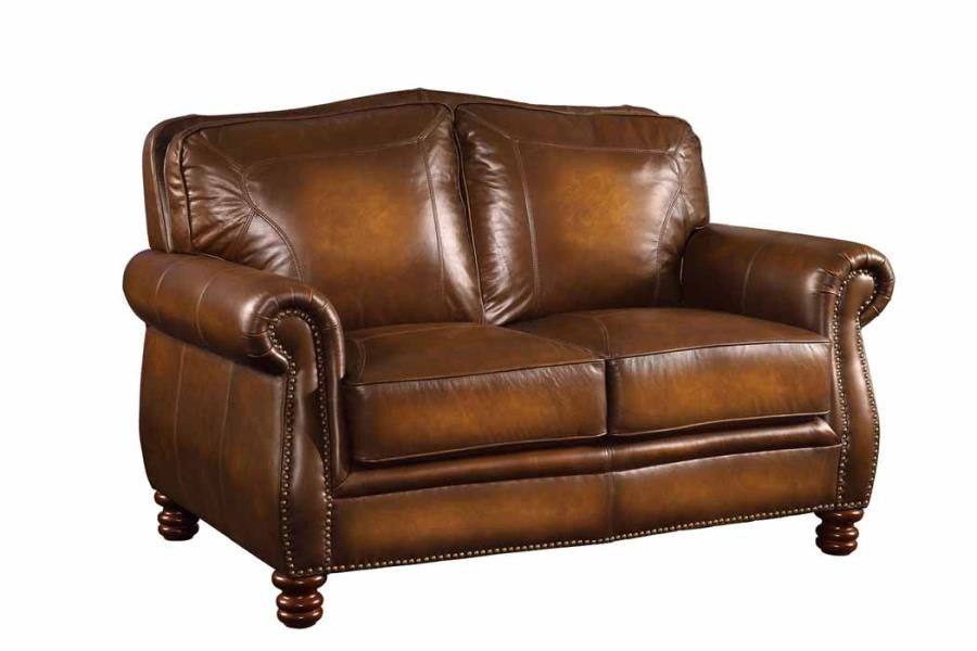 MONTBROOK COLLECTION - Montbrook Traditional Hand Rubbed Brown Loveseat