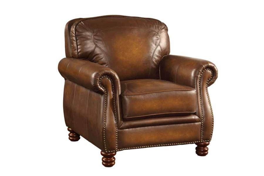 MONTBROOK COLLECTION - Montbrook Traditional Hand Rubbed Brown Chair