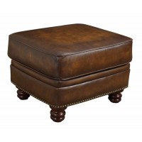 MONTBROOK COLLECTION - Montbrook Traditional Hand Rubbed Brown Ottoman