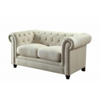 ROY COLLECTION - Roy Traditional Oatmeal Loveseat