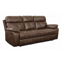DAMIANO MOTION COLLECTION - Damiano Transitional Brown Motion Sofa