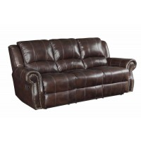 SIR RAWLINSON MOTION COLLECTION - Sir Rawlinson Traditional Burgundy Motion Sofa